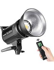 Neewer Flash Studio LED SL-60W - Lumière Blanche 5600K,60W CRI 95+,TLCI 90+,Projecteur LED avec Déclencheur,Réflecteur,Monture Bowens, Eclairage pour Vidéo Photo Studio et Photo Extérieure