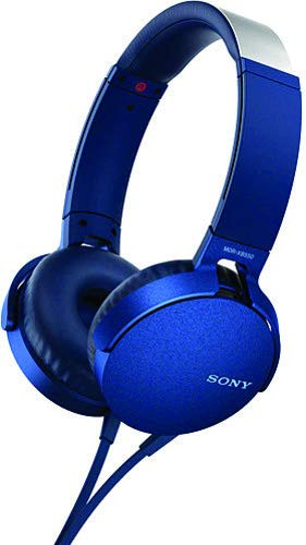 60acd71b517 Image Unavailable. Image not available for. Color: Sony XB550AP Extra Bass  On-Ear Headphone, Blue ...