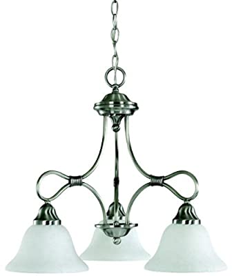 Kichler 2556AP Stafford Chandelier 3-Light, Antique Pewter