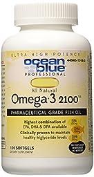 Ocean Blue Professional Omega-3 2100 Softgels. 120 Count