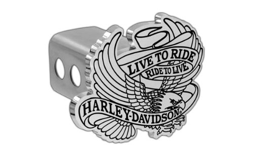 to Ride Eagle Metal Tow Hitch Cover (2 inch post) (Harley Davidson Tow Hitch Cover)