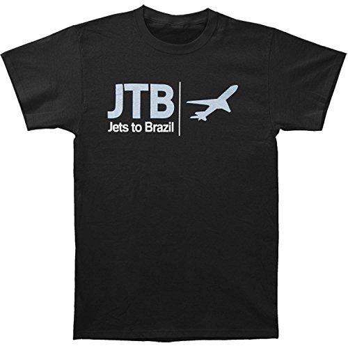 - Jets To Brazil Men's Airplane Tee T-Shirt X-Large Black