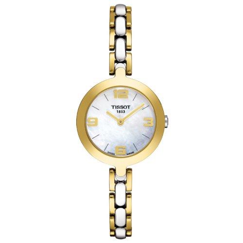 Reloj Tissot Mujer T0032092211700 al cuarzo (batería) acero chapado en oro amarillo quandrante nácar correa acero: Amazon.es: Relojes