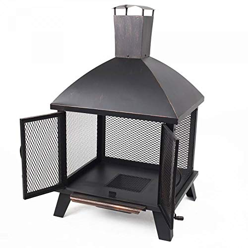 (Pleasant Hearth OFW577HC Stratford House Wood Burning Fire Pit)