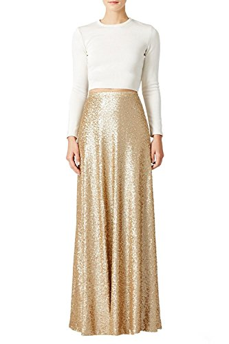 Gold Long Skirt - 9