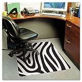 ES Robbins 118762 - Design Series Printed Chair Mat, 48w x 36l, Zebra Print-ESR118762