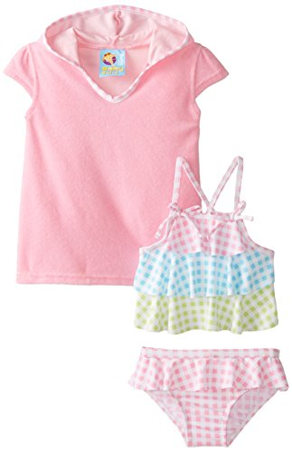 Baby Buns Baby Girls' Picnic Princess Swim Set, Pink, 12 Months