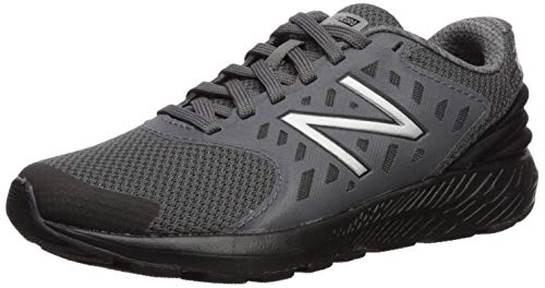 New Balance Boys' Urge V2 FuelCore Running Shoe, Castlerock/Black, 4 W US Big Kid