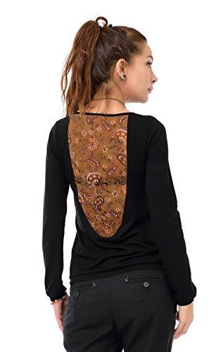 Fleur 3elfen Dos Feu À Top Soirée t De Magique longue shirt Femme Manches Vêtements Chemise Longues rrqAHw7x