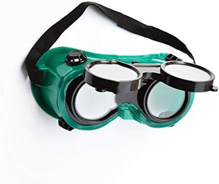 Bodbii Soldadores Gafas de Soldador Gafas de Orientaci/ón Vertical de Despliegue Objetivos de Tipo Negro Claro duales de Seguridad Protecci/ón de los Ojos Gafas