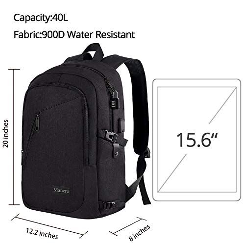 1c80d22077d4 Anti Theft Business Laptop Backpack with USB Charging Port Fits 15.6 inch  Laptop, Slim Travel College Bookbag for MacBook Computer, School Computer  ...