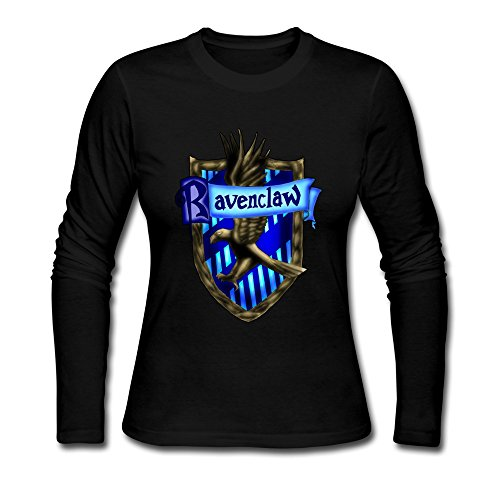 [AOPO Women's Long Sleeve Harry Potter Ravenclaw LOGO Tee Shirts] (Rowena Ravenclaw Costume)