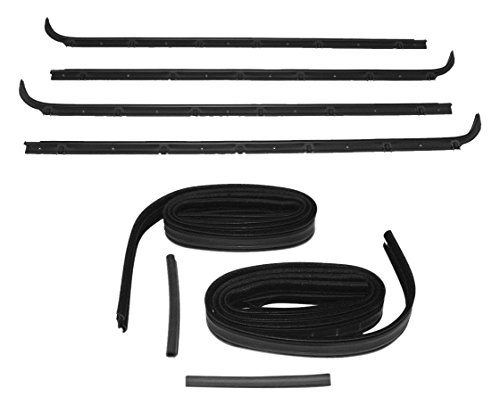 (Fairchild Automotive KF2023 Glass Run Channel Kit (Inner & Outer Belt Weatherstrip Kit, Complete, Driver Side & Passenger Side, Without Vent))