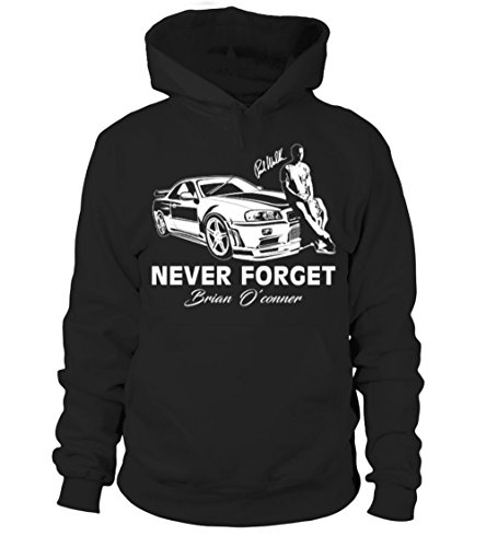 teezily Fast 8 - Never Forget - Paul Walker Unisex Hoodie