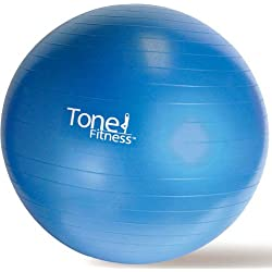 Tone Fitness 65cm Anti-burst Stability Ball Made With Plastic For Durability