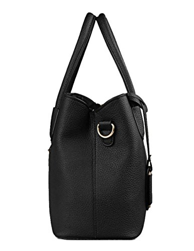 Utility Handbag Bag Pu Leather Women Life Black Satchel Handle Top Purse Vertical amp;e Tote Stylish B qw0AfA
