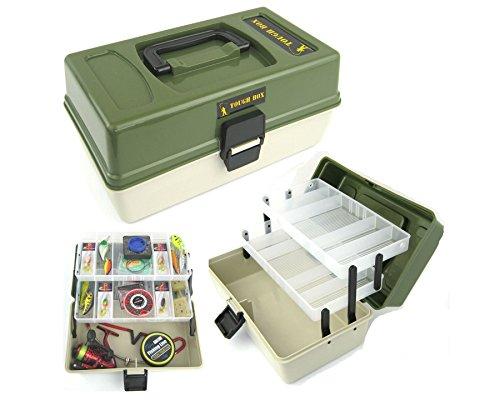 Roddarch copy; Fishing Tackle Box 2 Tray Cantilever 'Tough Box' Sea Coarse...