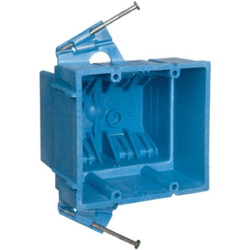 Carlon BH235A Switch/Outlet Box, New Work, 2 Gang, 3-7/8-Inch Length by 4-1/8-Inch Width by 3-1/2-Inch Depth, - Box Gang Carlon