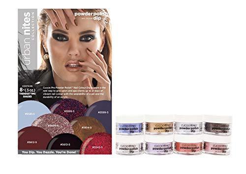 Cuccio URBAN NITES Collection Nail Dipping Powder Polish Dip 8 Colors