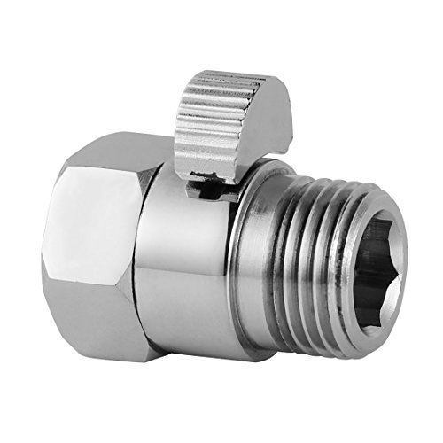 Install Shut Off Valve (Shower Flow Control Valves Shower Head Shut-Off Valve Solid Brass, Shower Head Flow Contral and Shut OFF Valve for Shower Head, Hand Shower, or Bidet Sprayer Chrome P01 1207 )
