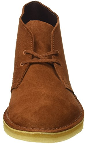 Clarks Originals Desert Boot, Polacchine Uomo Marrone (Dark Tan Suede)