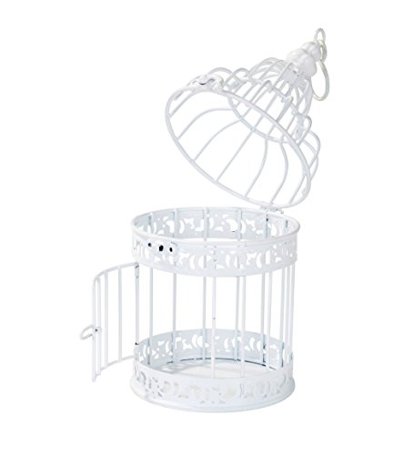 Talking Tables Be Happy White Birdcage Wedding Table Centerpiece