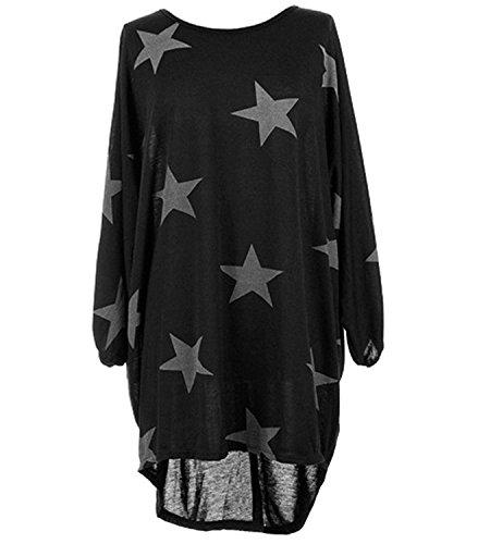 de Negro Mujer 365 larga manga Camiseta tiendas qwfFWExCO