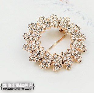 The audience optional two genuine Austrian crystal diamond brooch pin sunflowers style fashion style