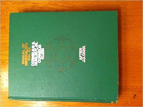 Manual of Mineralogy after James D. Dana