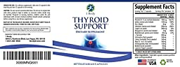 Thyroid Support Supplement - (Vegetarian) - A complex blend of Vitamin B12, Iodine, Zinc, Selenium, Ashwagandha Root, Copper, Coleus Forskohlii & more - 30 Day Supply