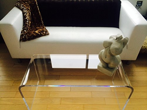 """Acrylic Coffee Table 44"""" Long X 16"""" X 16"""" x 3\/4"""" thick - Buy Online in UAE.  Furniture Products"""