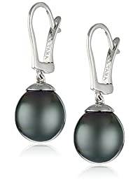14k Gold Natural Color AA Quality Tahitian Cultured Pearl Earrings (9-10mm)
