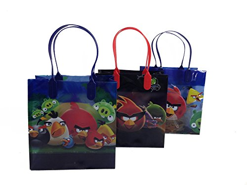 12pcs Angry Bird Treat Bags Rovio Goodies Bags Party Favor Birthday Loot Bags