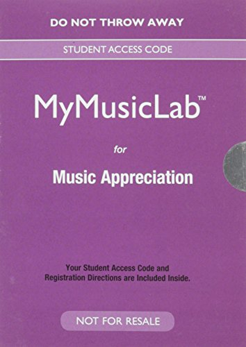 NEW MyLab Music for Music Appreciation -- Valuepack Access Card (New My Music Lab)