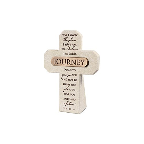 Lighthouse Christian Products Journey Title Bar Desktop Cross, 5 1/2 x 4