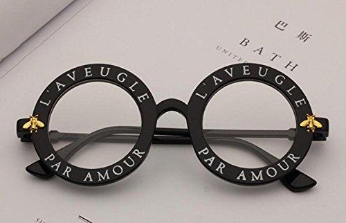 y Gafas de Marco Mujer c Opcional Gran Americano Metal Lentes de Redondos Rana Sol Estilo para F Espejo de Multicolor RDJM Europeo 0Odq0