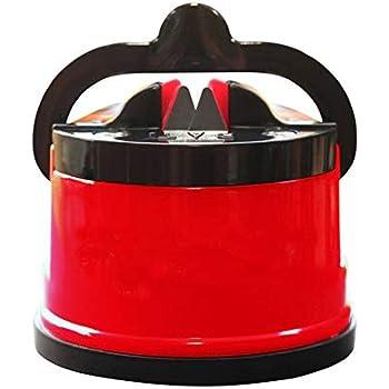 Amazon.com: Afilador de cuchillos de acero azul y rojo con ...
