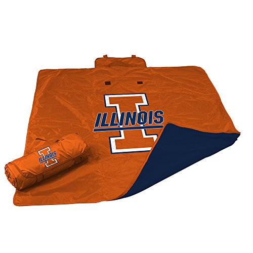 (Logo Brands NCAA Illinois All Weather Blanket, One Size, Multicolor)
