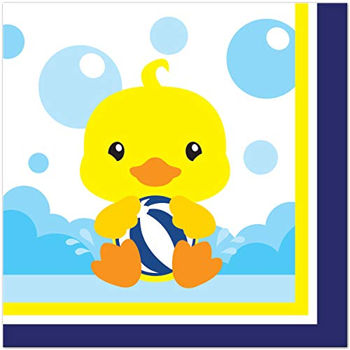 Rubber Ducky 48 Count 6.5 inch Birthday Party Lunch Napkins