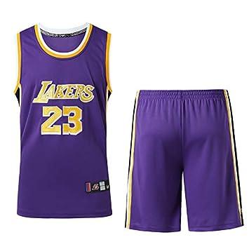 Hombre Ropa de Baloncesto NBA Lakers James #23 Bordado Pantalones ...