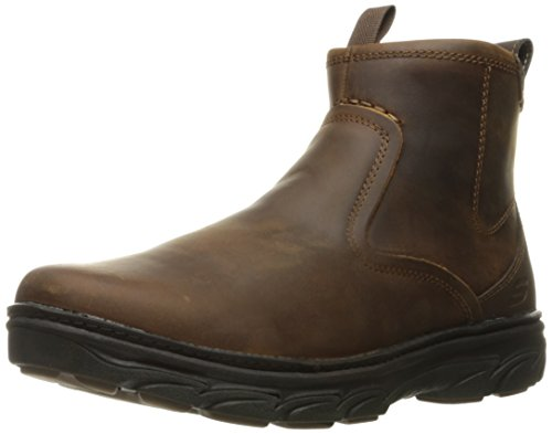 Skechers USA Men's Resment Korver Chukka Boot,Dark Brown,8 M US