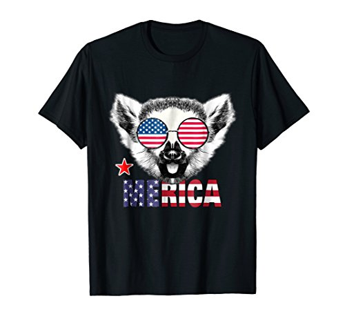 Merica Funny Lemur 4th Of July Gifts (Brown Lemur)