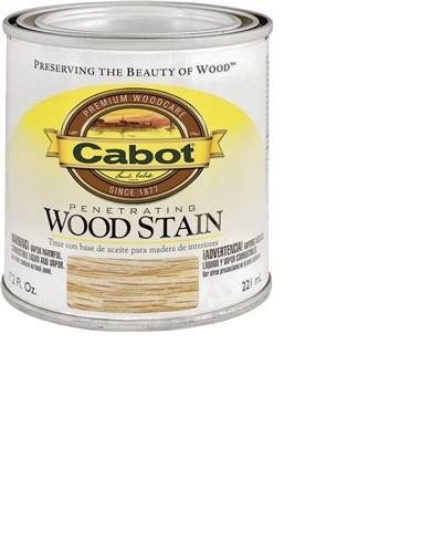 CabotStain 144-8123 HP 1/2 Pint Colonial Maple Interior Oil Wood Stain, 0.5 pt,