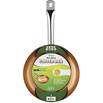 Amazon Com Non Stick Copper Frying Pan Ceramitech With