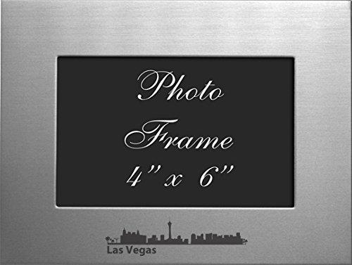 Las Vegas, Nevada-4x6 Brushed Metal Picture - Frame Vegas