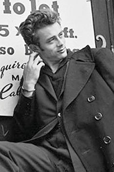 James Dean Trench Coat Classic Hollywood Actor Celebrity Poster Print 24X36