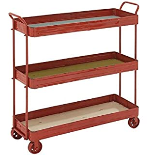 Deco 79 42509 Metal Wood 3 Tier Cart, ...
