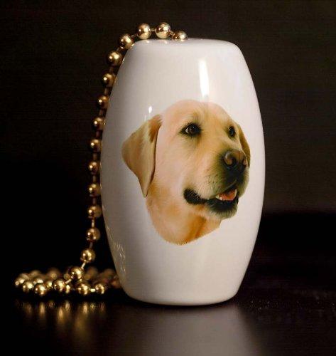 Yellow Labrador Porcelain Fan / Light Pull (Labrador Yellow Porcelain)