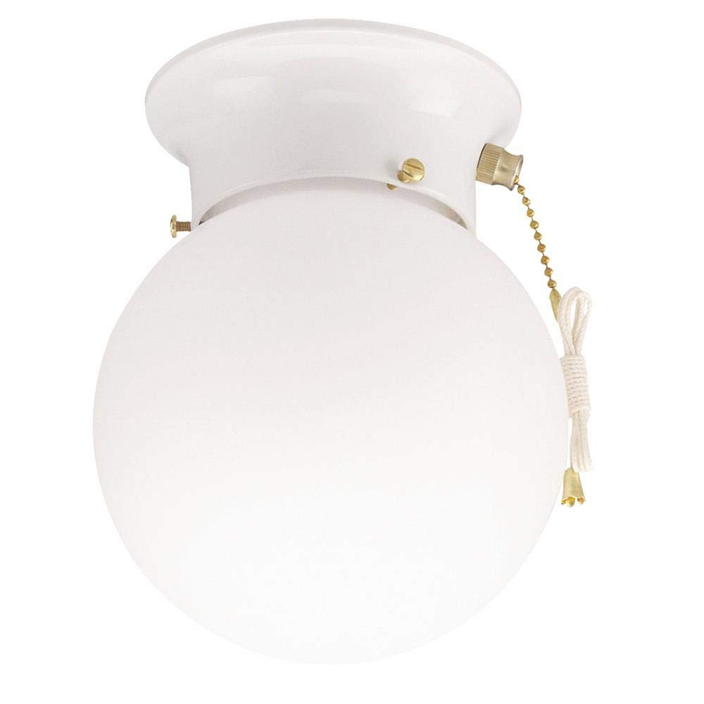 Home Impressions 6 In. Flush Mount Ceiling Light Fixture With Pull ...