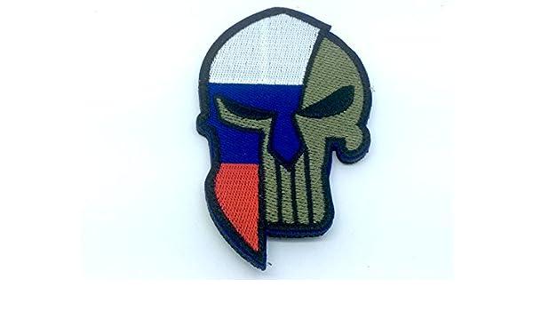 Parche de paintball bordado con bandera de España de Rusia: Amazon ...
